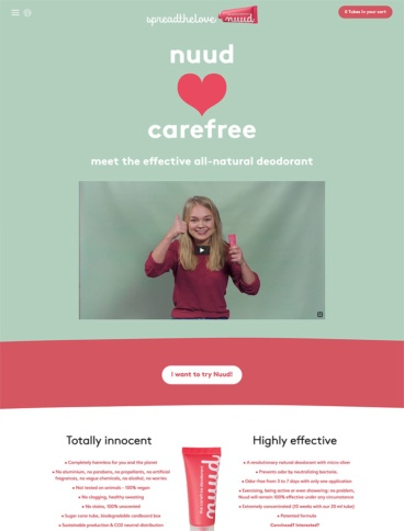 eCommerce website: Nuud Care