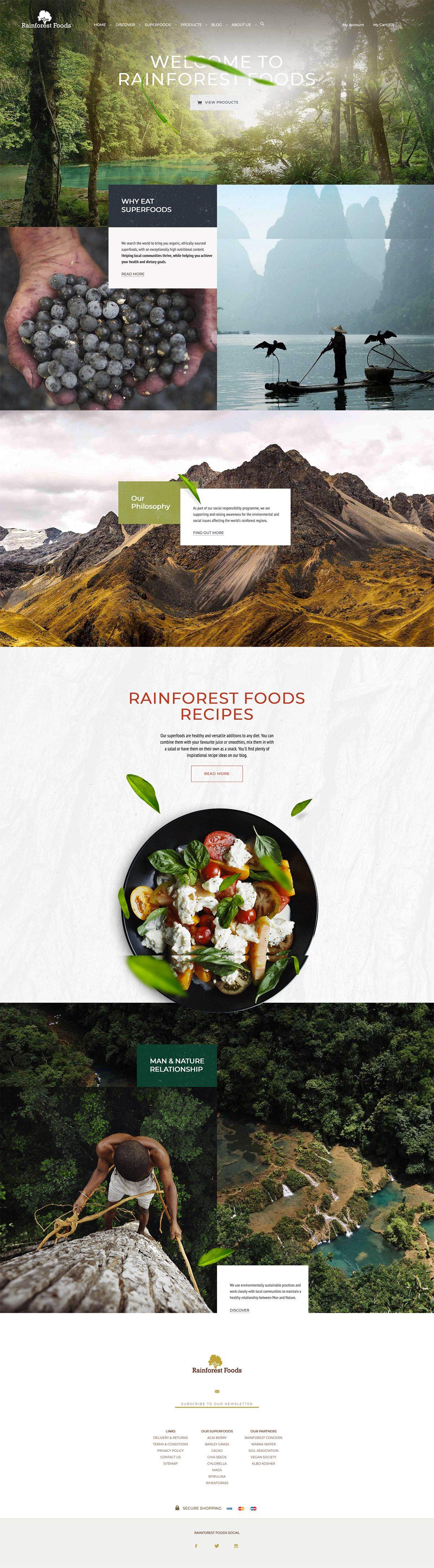 eCommerce website: Rainforest Foods