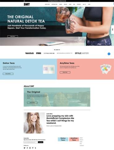 eCommerce website: SkinnyMe tea