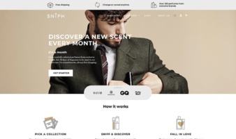 eCommerce website: Sniph