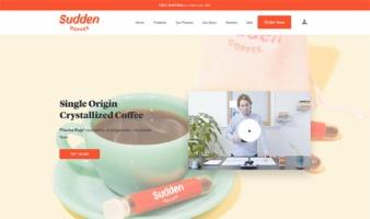 eCommerce website: Sudden Coffee