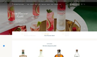 eCommerce website: The Bottle Club