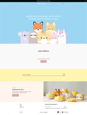 eCommerce website: Tiny Supply