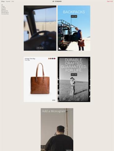 eCommerce website: WP Standard