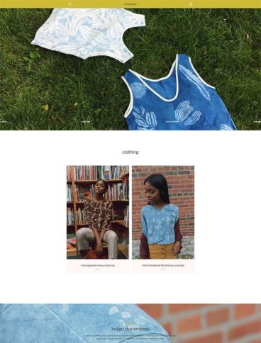 eCommerce website: Erina Pearl