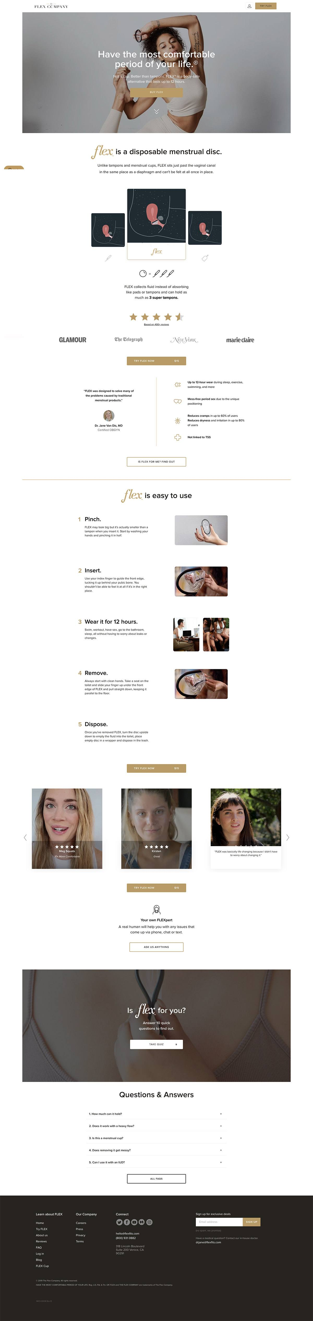 eCommerce website: Flex