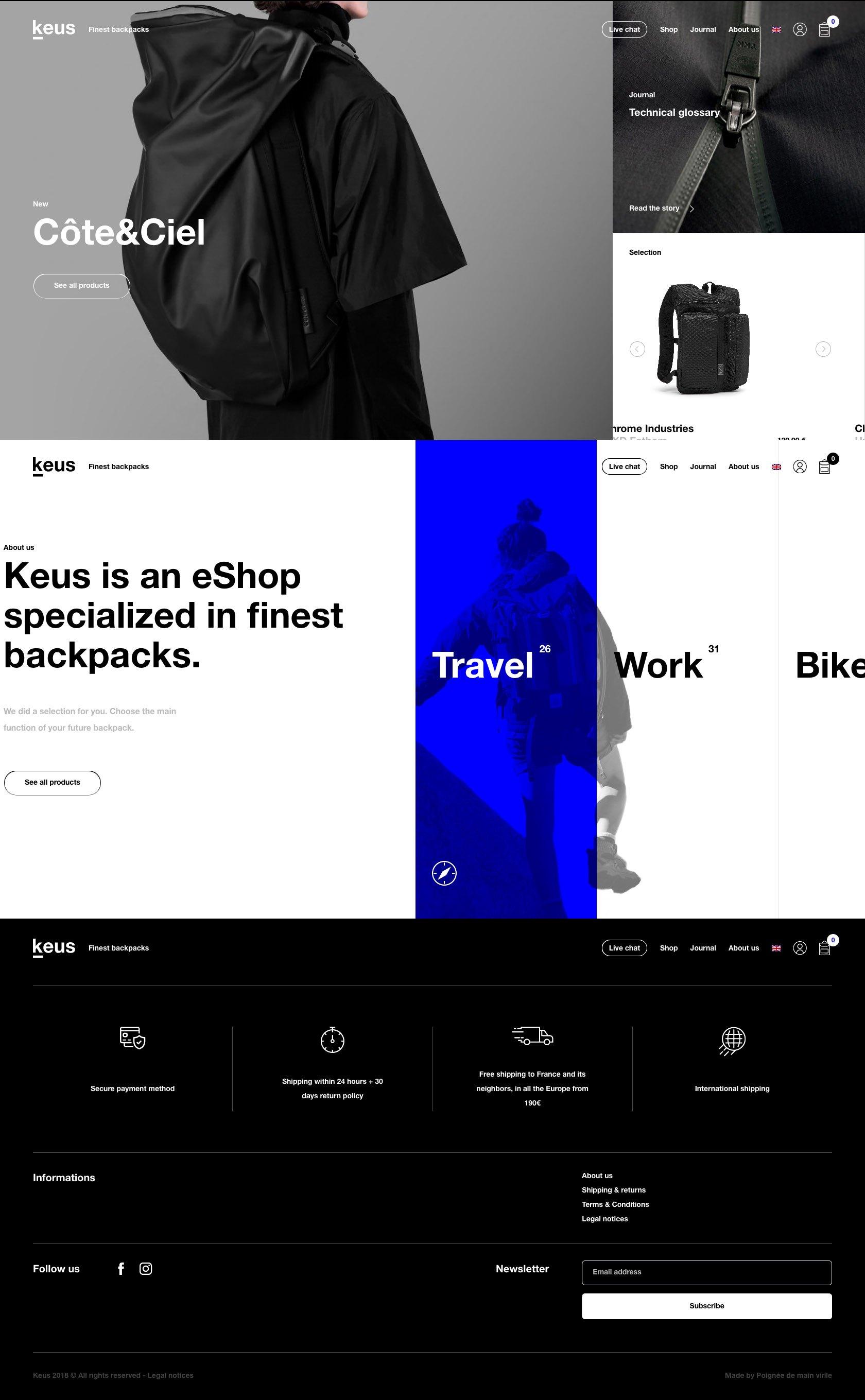 eCommerce website: Keus