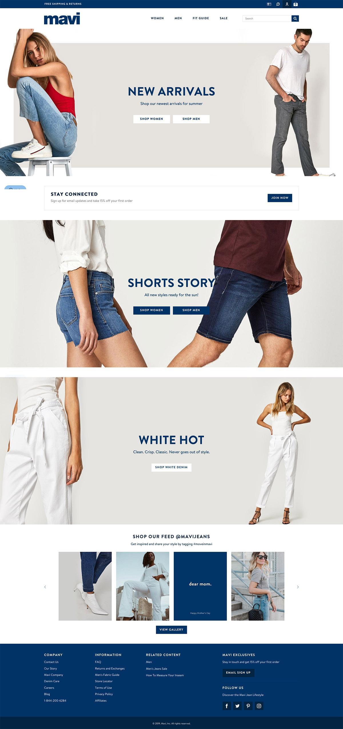 eCommerce website: Mavi