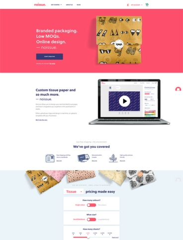 eCommerce website: noissue.co