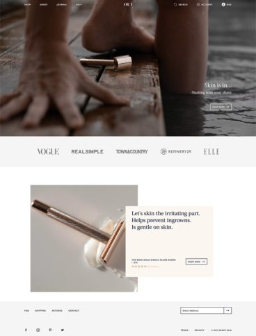 eCommerce website: Oui Shave