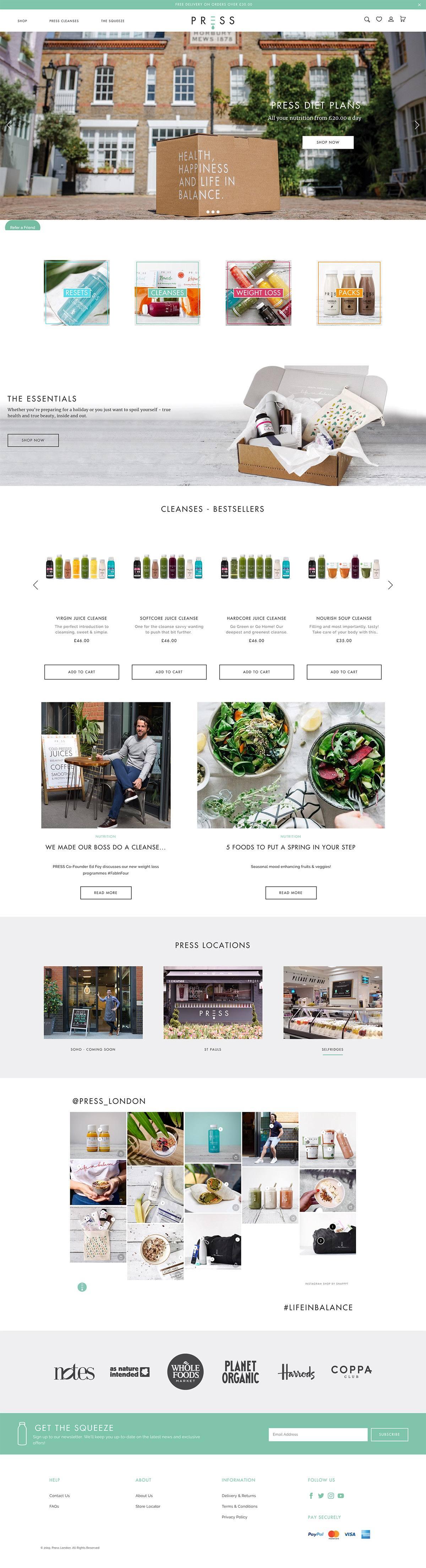 eCommerce website: Press London