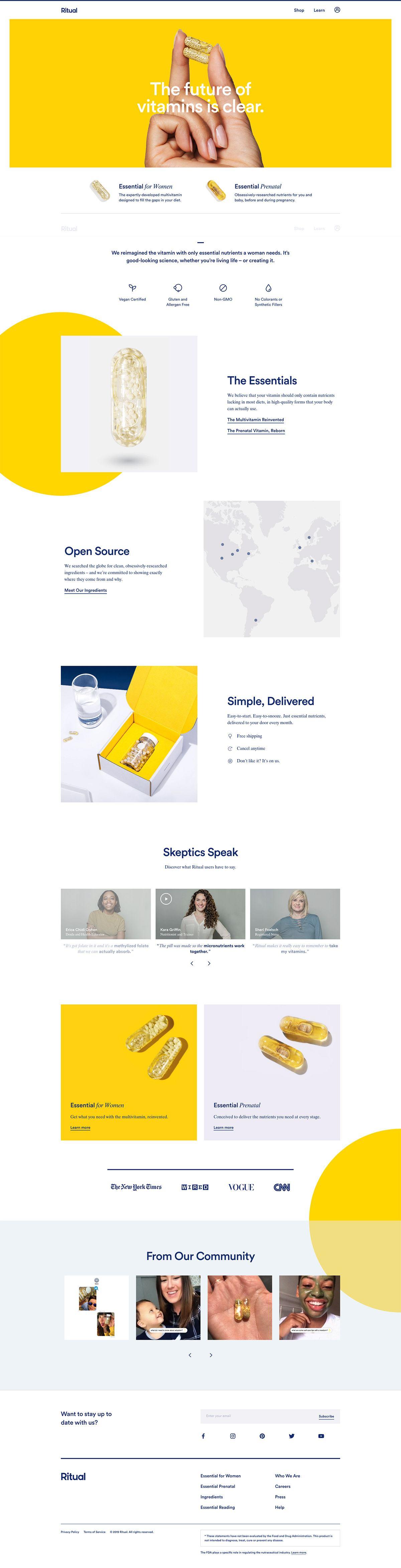 eCommerce website: Ritual