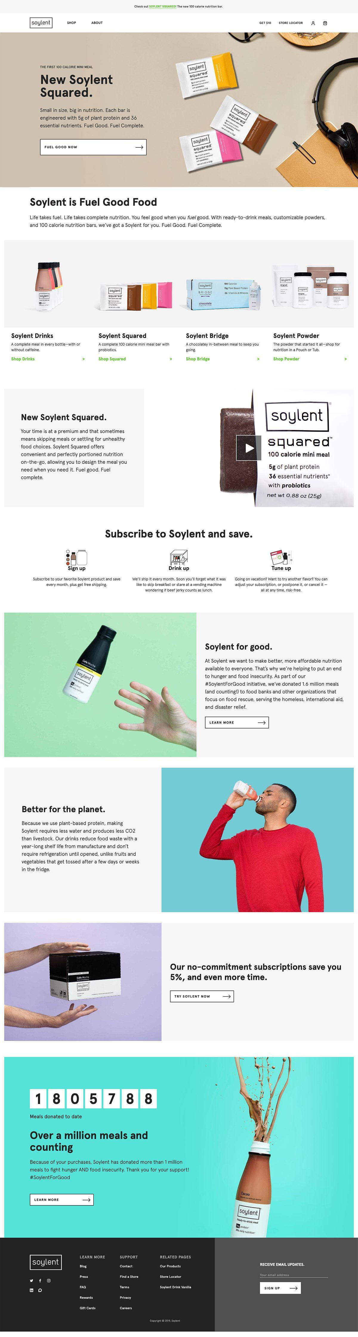 eCommerce website: Soylent