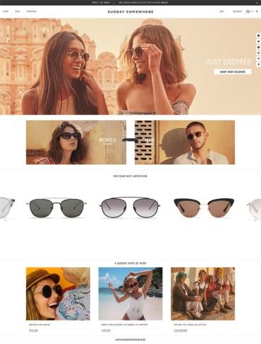 eCommerce website: Sunday Somewhere