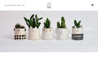 eCommerce website: Atelier Stella Ceramics