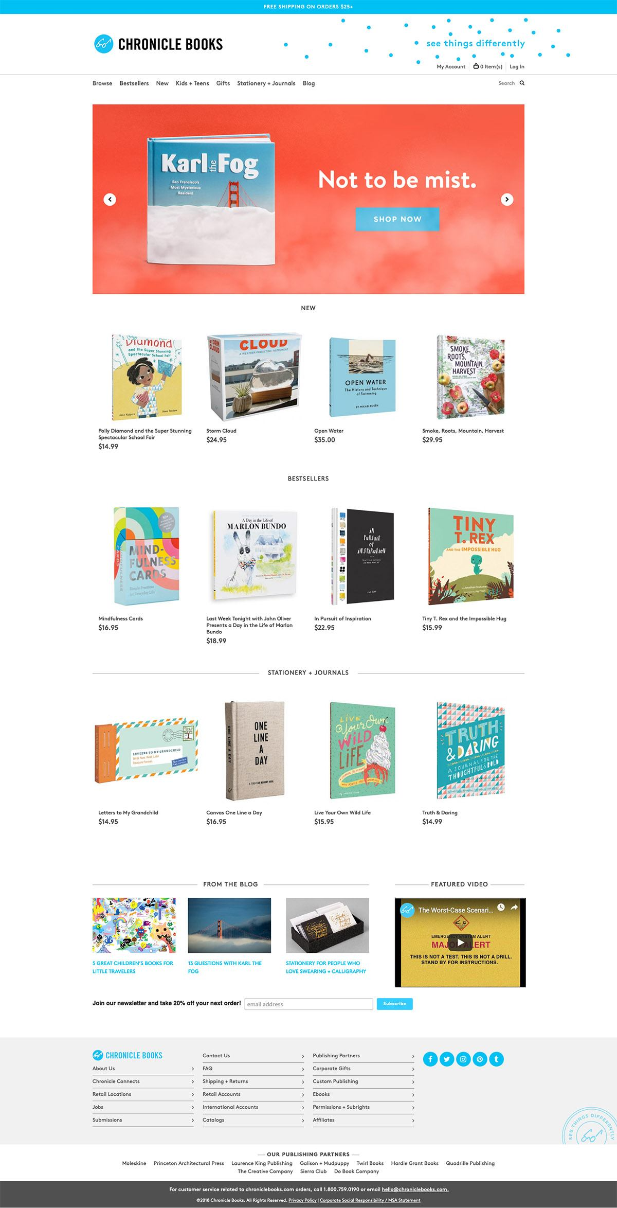 eCommerce website: Chronicle Books