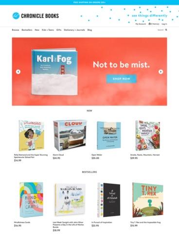 eCommerce website: Chronicle Books