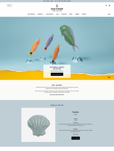 eCommerce website: Don Fisher