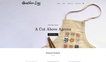 eCommerce website: Heather Lins Home