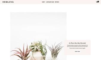 eCommerce website: Hemleva