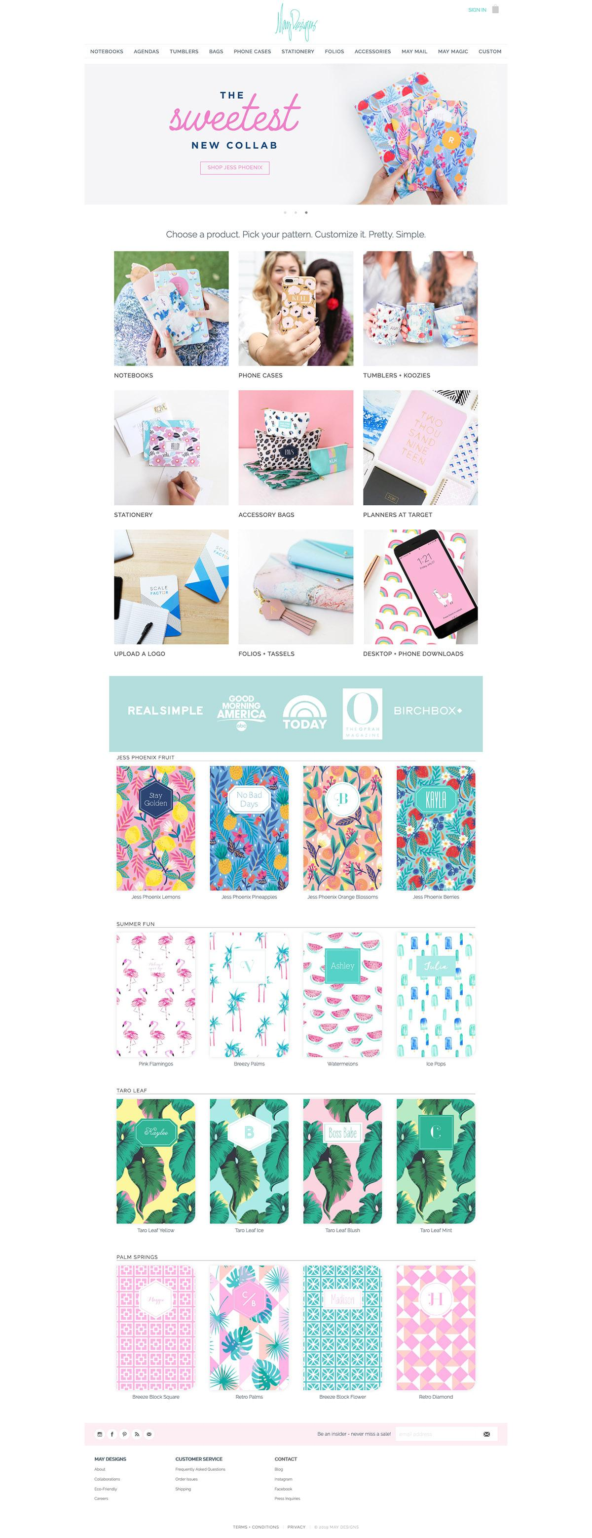 eCommerce website: May Designs