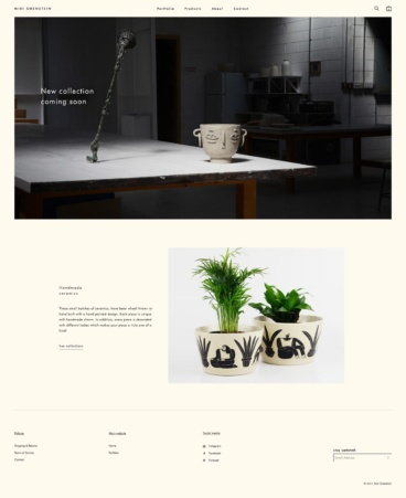 eCommerce website: Miri Orenstein