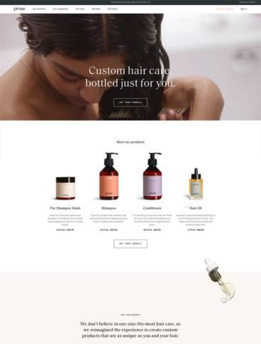eCommerce website: Prose
