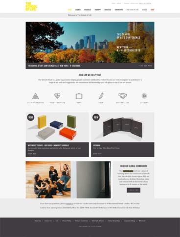 eCommerce website: School of Life