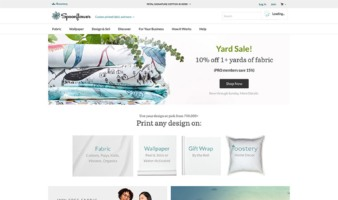 eCommerce website: Spoonflower