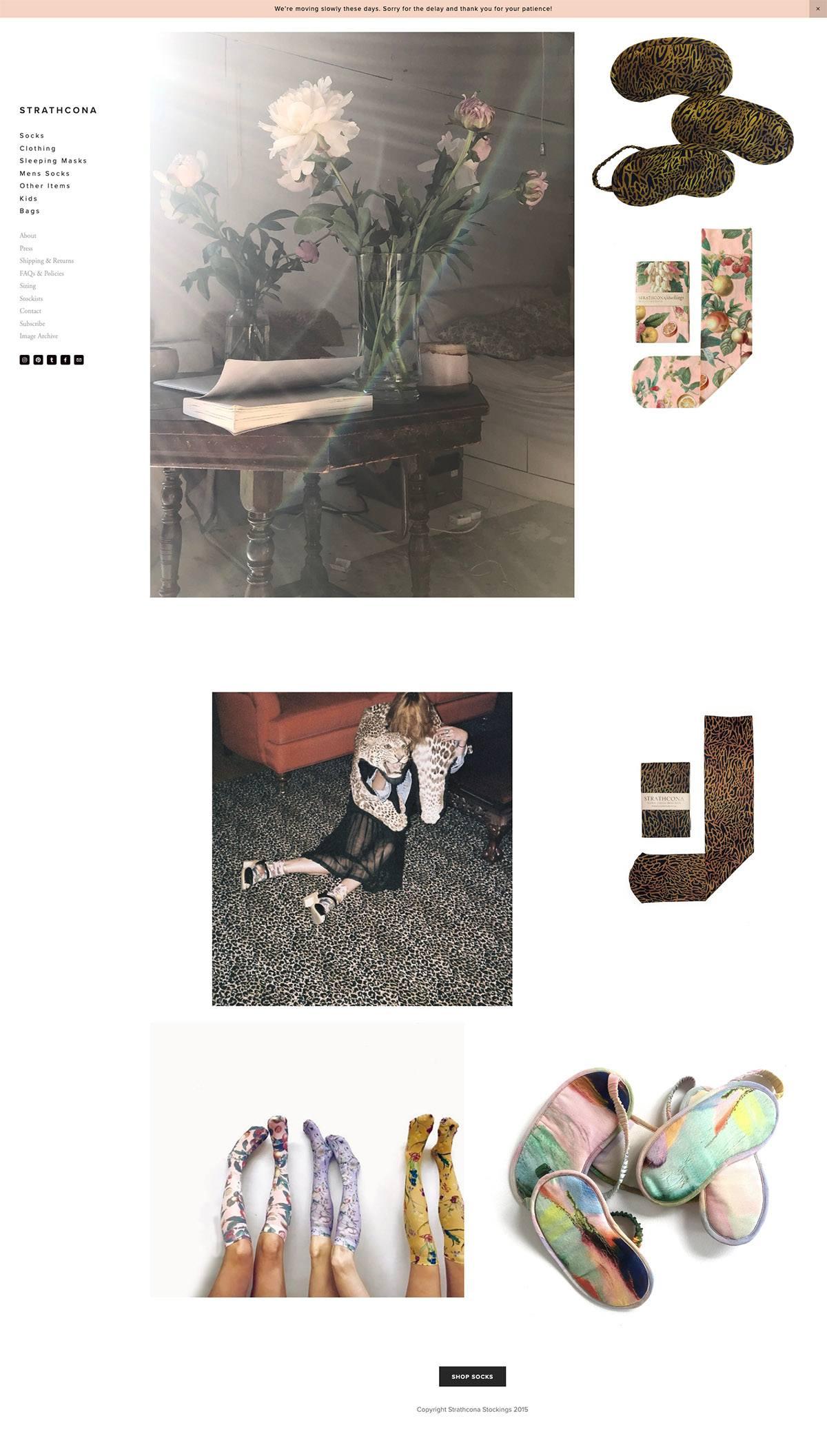 eCommerce website: Strathcona  Stockings