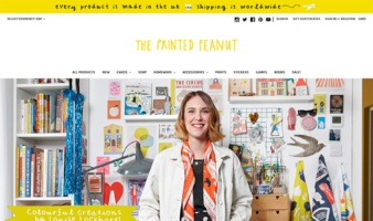 eCommerce website: The Printed Peanut