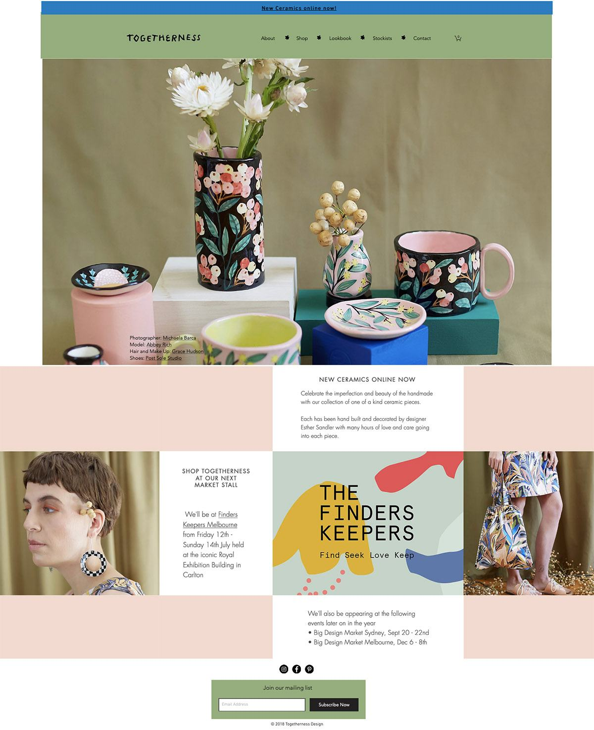 eCommerce website: Togetherness Design