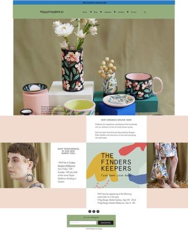 eCommerce website: Togetherness Design