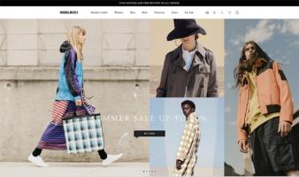 eCommerce website: Woolrich