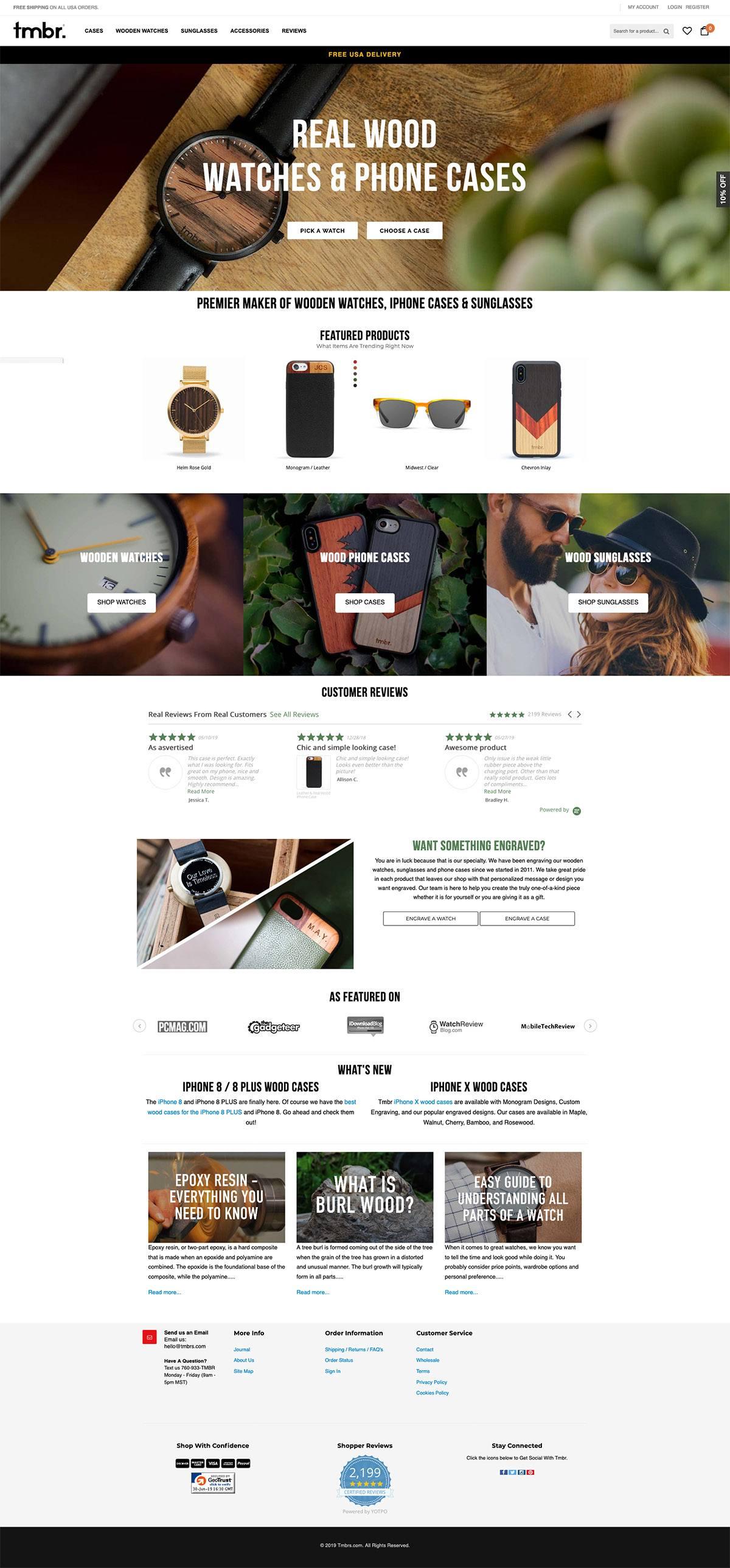 eCommerce website: tmbr