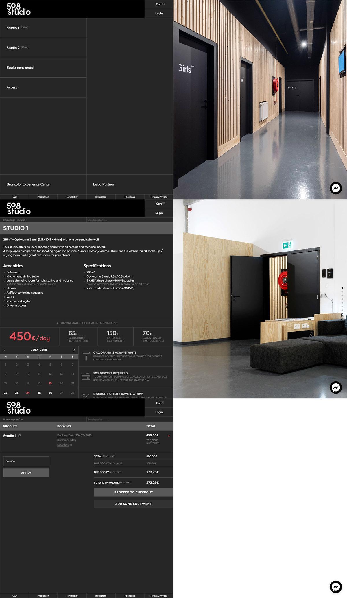 eCommerce website: 50.8 Studio