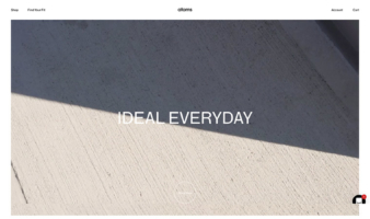 eCommerce website: Atoms