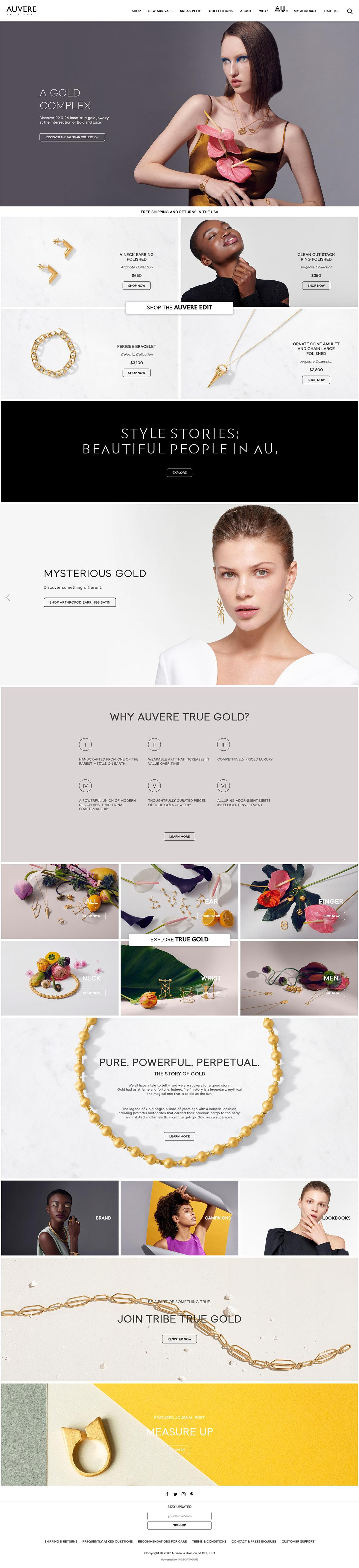 eCommerce website: Auvere
