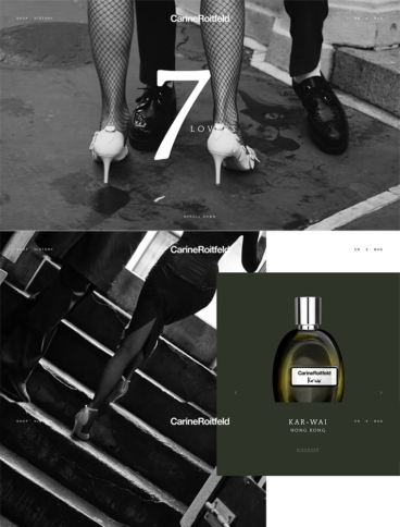 eCommerce website: Carine Roitfeld
