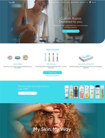 eCommerce website: Gillette Venus