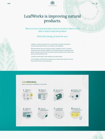 eCommerce website: Leafworks