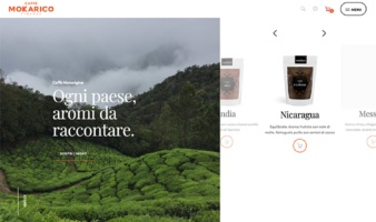 eCommerce website: Mokarico Coffee