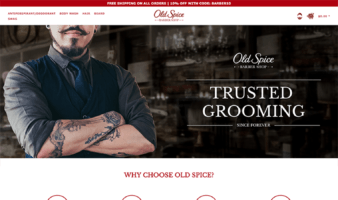 eCommerce website: Old Spice