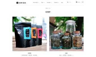 eCommerce website: Origo