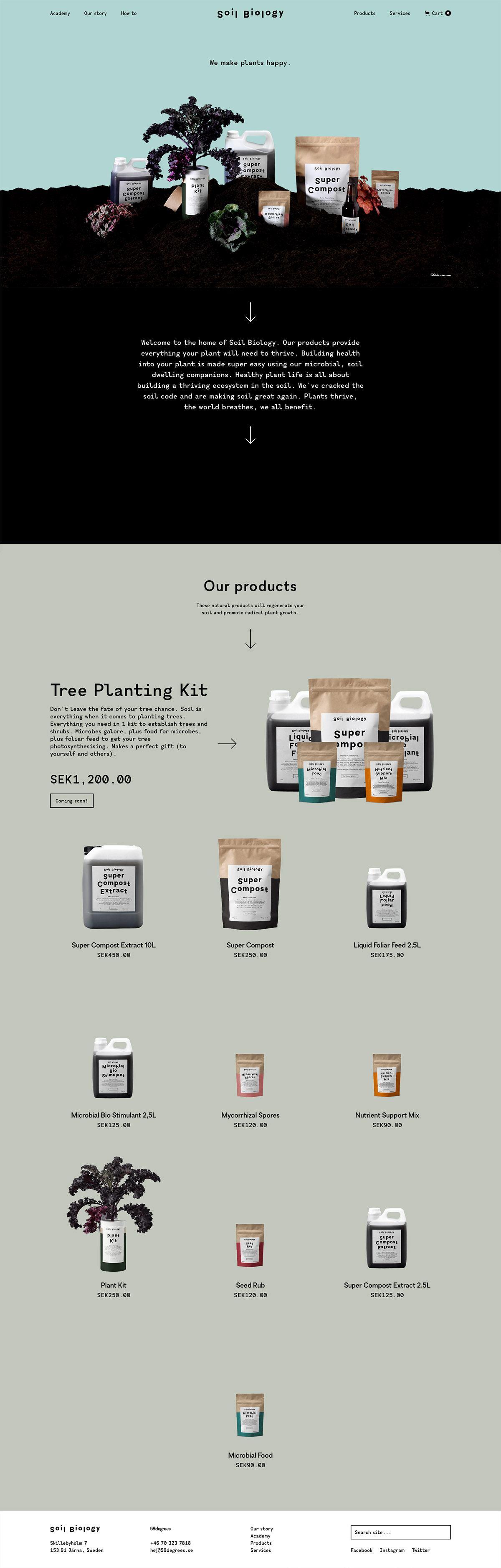 eCommerce website: Soil Biology