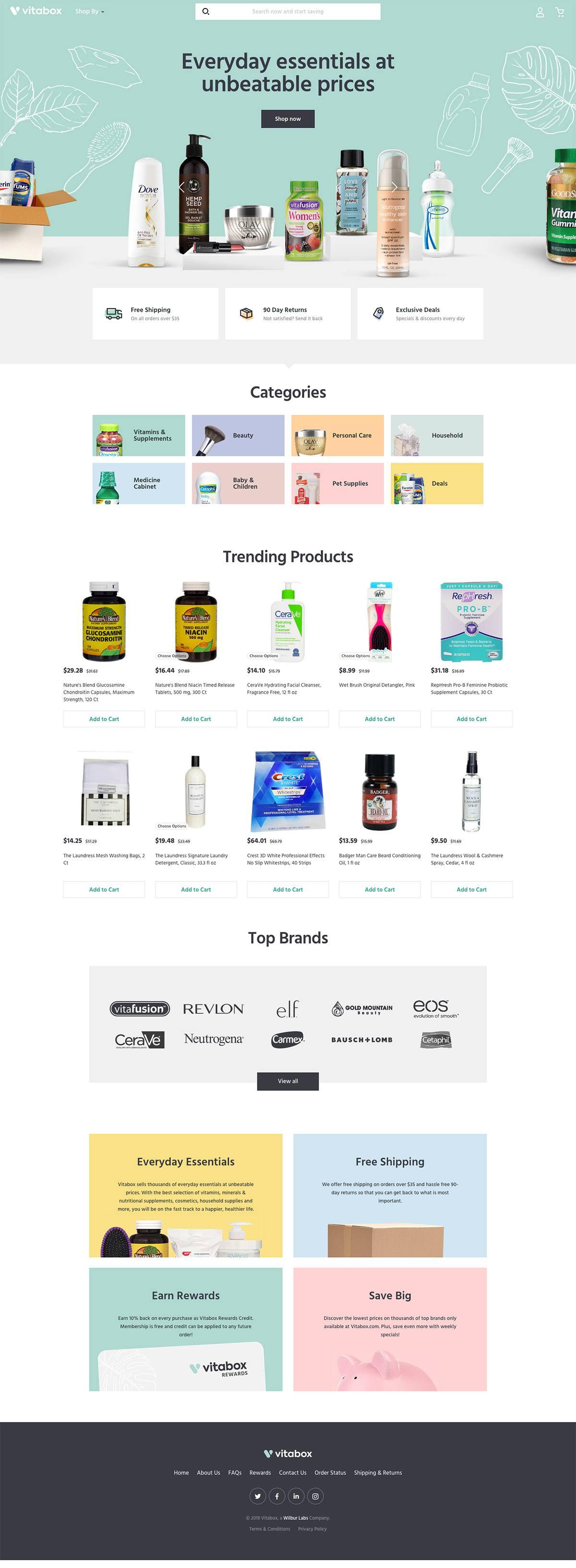eCommerce website: Vitabox