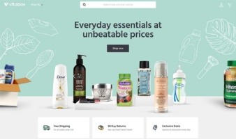 eCommerce website: Vitabox