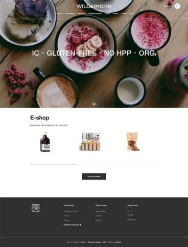 eCommerce website: WILD & The MOON