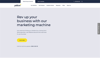 eCommerce website: Yellow