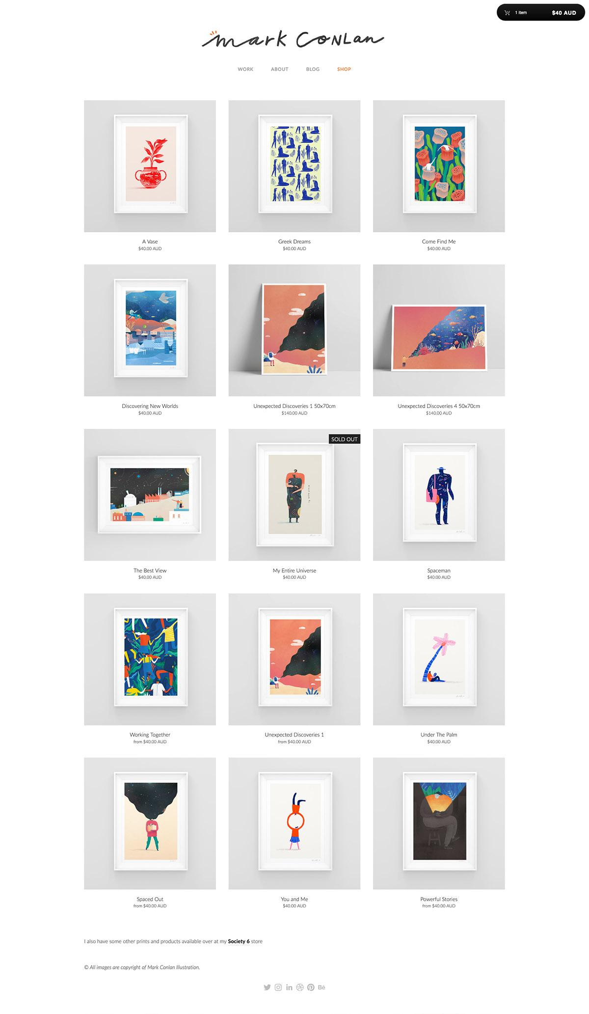 eCommerce website: Mark Conlan